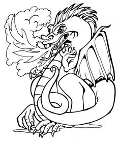 dragon coloring pages picture 2 550x646 picture - Coloring Prints