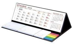Kalendarze biurkowe z karteczkami