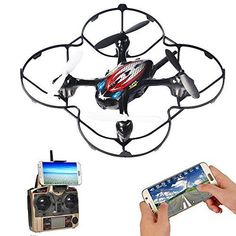 Make sure the drone is put on a flat surface. Get use to the trim buttons until you can adjust the drone to be close to hovering. Rc Drone With Camera, Technology Gadgets, Wifi, Easy