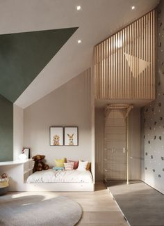 Dachboden Kinderzimmer - More is Now - Familienküche Loft children's room - More is Now - family kit