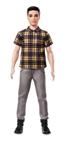 Barbie Ken Fashionistas Chill in Check Doll, Broad | eBay