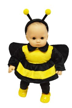 Brittanyu0027s   Bumble Bee Outfit For American Girl Dolls Bitty Baby, $14.99u2026