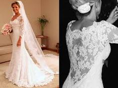 Image result for lace bridal gowns