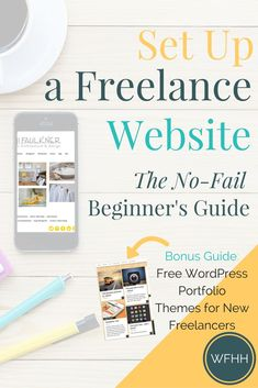 As a freelancer, you get to set your own hours, pick the projects you work on, and set your rates! If you're ready to join the freelance ranks, you'll need your own website to showcase your work. This no-fail beginner's guide will show you, step by step,