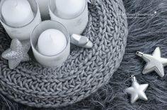 DIY: Strick Adventskranz selber machen aus einem alten Schal