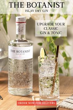 Upgrade your classic Gin & Tonic with these refreshing recipes from The Botanist Gin. Order your bottle for delivery today.    The Foraged Gin & Tonic: 2 oz The Botanist Gin; 4 oz Tonic Water; Garnish with Lime, Thyme, Mint