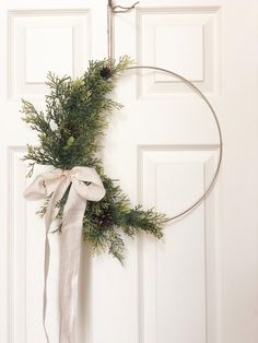 Excited to share this item from my shop: Modern Christmas Hoop Wreath Hoop Wreath Winter Wreath Faux Greenery Wreath Modern Style Wreath Farmhouse Style Wreath Noel Christmas, Christmas Crafts, Christmas Greenery, Rustic Christmas, Modern Christmas Decor, Elegant Christmas, Christmas Fashion, Scandinavian Christmas, Handmade Christmas