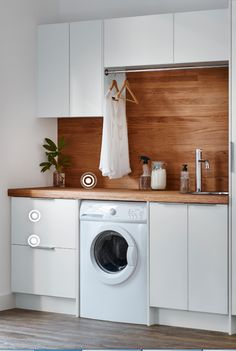 The Little-Known Secrets to Laundry Room Design Ideas There are lots of design ideas in the post basement laundry room which you are able to find, you will see ideas in the gallery. Therefore, if you're searching for design suggestions… Continue Reading → Laundry In Kitchen, Laundry Cupboard, Modern Laundry Rooms, Basement Laundry, Laundry Room Organization, Laundry Storage, Laundry In Bathroom, Small Bathroom, Laundry Labels