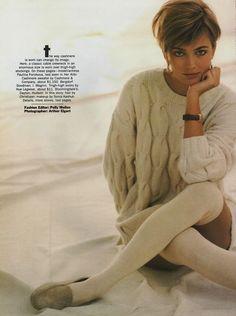 "Vogue US December 1989  ""Soft Focus""  Model: Paulina Porizkova  Photographer: Arthur Elgort  Stylist: Polly Mellen http://supermodelobsession.tumblr.com"