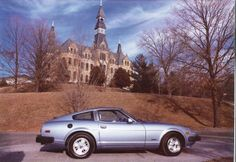 We always photograph our new cars in front of Mackay Hall.   1978 Datsun 280ZX owned by Julie McCollum, Director of Alumni Relations