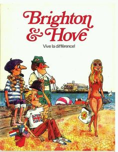 Brighton and Hove vintage poster