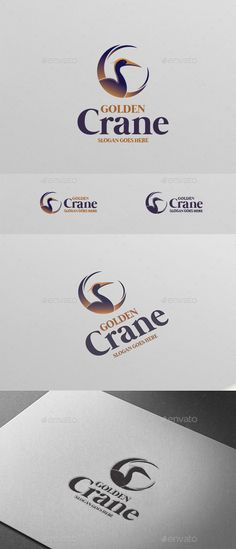 Golden Crane Bird Logo — Vector EPS #bold #animal • Available here → https://graphicriver.net/item/golden-crane-bird-logo/16836269?ref=pxcr