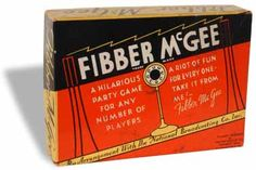 """This Milton Bradley game from the 1930s was based upon the popular NBC radio program """"Fibber McGee and Molly"""".  (H 70283)"""