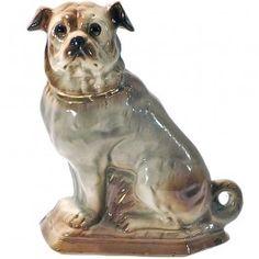 Antique Staffordshire Pug Figurine