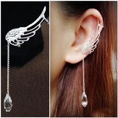 Hollow-out Design Angel's Wings Lady's Fashion Earings from EricDresses on less price. Use coupon and promotional codes.