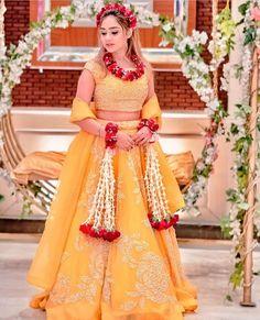Bridal Mehndi Dresses, Pakistani Wedding Outfits, Ceremony Dresses, Indian Bridal Outfits, Indian Bridal Fashion, Indian Fashion Dresses, Wedding Dresses For Girls, Mehndi Dress For Bride, Pakistani Bridal Lehenga