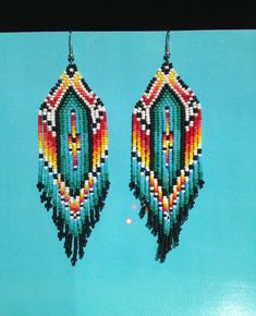 Colorful Beaded earrings made with many colors such by ClaraJBeads, $45.00