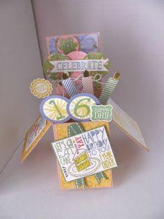 Card in a Box Sweet 16 by Maureen Albert (Arizona), Used retired DSP, Best of Birthdays, Christmas Ornament Framelits