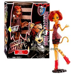 Mattel Year 2013 Monster High Ghoul's Alive! Series 11 Inch Electronic Doll - TORALEI with Glowing Eyes, Twitching Tail & Meow Sound Plus Doll Stand