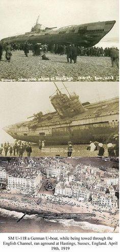 1919-04-19 SM U-118 German U-boat.