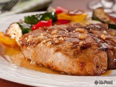 Honey Garlic Pork Chops | Sweet pork might sound funny, but you'll thank us after you try Honey-Garlic Pork Chops. This easy, fast recipe's got it all!