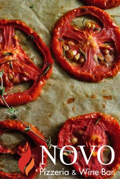 Roasted tomatoes. #italianpizza #vancouverfoodie #novopizzeria