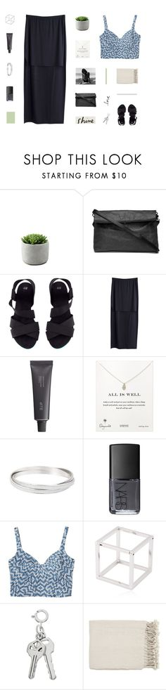 """city lights"" by made-of-starlight ❤ liked on Polyvore featuring H&M, MTWTFSS Weekday, Bite, Dogeared, NARS Cosmetics, Monki, Caterina Zangrando and Surya"