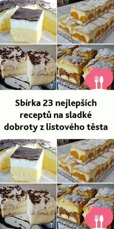 Czech Recipes, Ethnic Recipes, Sweet Cakes, Tiramisu, Food And Drink, Sweets, Baking, Breakfast, Desserts