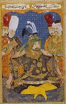 Edirne event - Mustafa II dressed in full armor.-The Edirne Event was a janissary revolt that began in Istanbul in 1703. The revolt was a reaction to the consequences of the Treaty of Karlowitz and Sultan Mustafa II's absence from the capital. The rising power of the sultan's former tutor, Seyhulislam Feyzullah Efendi and the empire's declining economy caused by tax farming were also causes of the revolt. As a result of the Edirne Event, Seyhulislam Feyzullah Efendi was killed