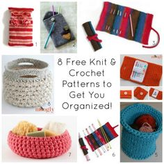 Get organized in the new year with 8 free knit & crochet patterns from guest blogger Tamara Kelly, creator of Moogly!