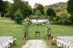 Romantic Cedarwood Wedding. Nashville Wedding Photographers. Chuppah. Outdoor Wedding Canopy. www.bradandjen.com