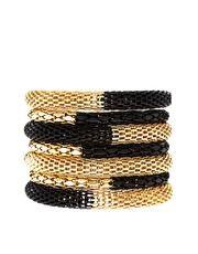 Black and Gold Metal Bracelet