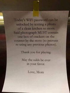 Geniale moeder weet hoe ze haar kroost aan het werk krijgt