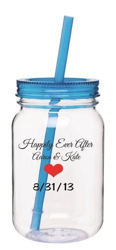 Mason Jar Wedding Favor by OurWeddingCupsdotCom on Etsy, $287.52
