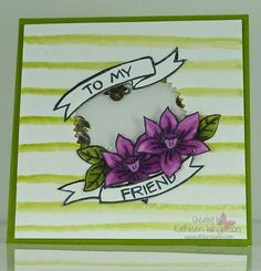 You're Wonderful  -  To My Friend card  --  Stampin' Up!