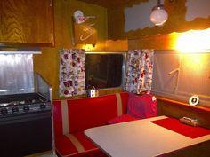 Inside 1958 Shasta trailer vintage