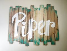 Wooden pallet hand painted name sign by brittneygaddisart on Etsy, $50.00