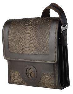 "Neat handmade ""manbag"" made from pyton/calf skin."