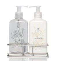 Thymes Sink Set, Chrome Caddy with Hand Wash and Lotion, Eucalyptus // Description Infuse the day with possibility. With a fresh and cleansing blend of invigorating eucalyptus oil, crisp Italian lemon, lime and petitgrain, Thymes Eucalyptus is positive and alive. A scent that no only wakes you up, but leaves you centered, open and ready to take on the day with warmth and vitality. // Details // read more >>> http://Rena426.iigogogo.tk/detail3.php?a=B002WJHKOG