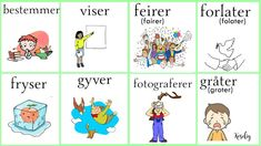Norsk verbs Norwegian Words, Norway Language, Chinese English, Comics, Learning, Languages, Places, Travel, Pictures