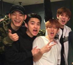 💕 Chen D.O Baekhyun Chanyeol 💕 Baekhyun Chanyeol, Exo Ot9, Kpop Exo, Lay Exo, K Pop, Fanfic Exo, Exo Music, Kim Minseok, Xiuchen