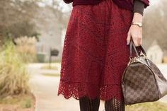 Turning Heads Linkup- Valentine's Day Look with Velvet and Lace
