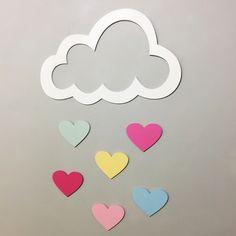 Compre Nuvem - Chuva de Amor MDF para Parede no Elo7 por R$ 59,90 | Encontre mais produtos de Decoração de Quarto de Bebê e Bebê parcelando em até 12 vezes | Nuvem com gotas - Aplique MDF para Parede Pode-se usar como complemento das nuvens com LED, na decoração de quadros, para painel..., B04AE0