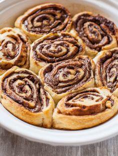 nutella cinnamon rolls #nutella