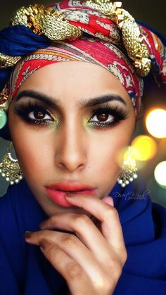 Spring by Desert-Winds on deviantART Black Is Beautiful, Beautiful Eyes, Beautiful People, Best Beauty Tips, Beauty Hacks, Middle Eastern Makeup, Head Turban, African Inspired Fashion, Exotic Beauties