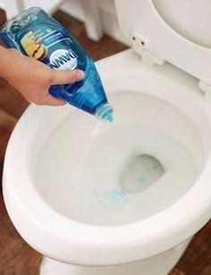 liquide vaisselle pour déboucher wc toilettes