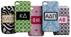 Sorority iPhone or Blackberry cell phone cases!!