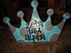 Zeta Tau Alpha chip decor Crown