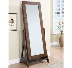 powell zebrano walnut cheval mirror or wall mount jewelry armoire x in a beautiful versatile standing mirror the zebrano walnut cheval mirror or wall