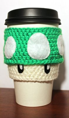 Super Mario 1Up Mushroom Coffee Cozy